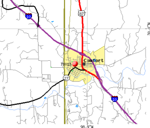 Comfort texas 78013 map